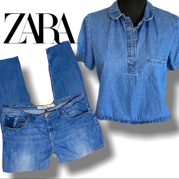 Zara Core distressed boyfriend  jeans 12
